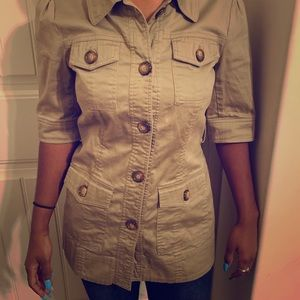 Forever 21 Women's Buttoned Top